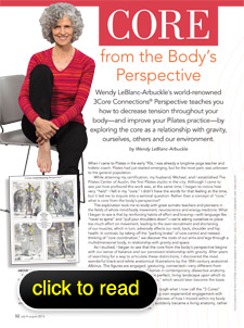 Wendy LeBlanc-Arbuckle interview with Pilates Style July 2013