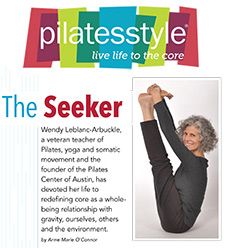 Pilates Style Magazine article, The Seeker