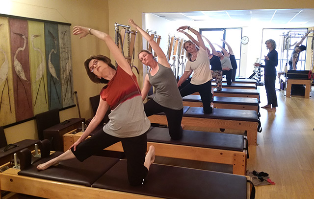 Wendy LeBlanc-Arbuckle teaching general fitness at the Pilates Center of Austin