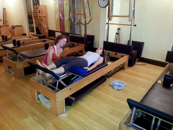 Pilates Center of Austin clients training