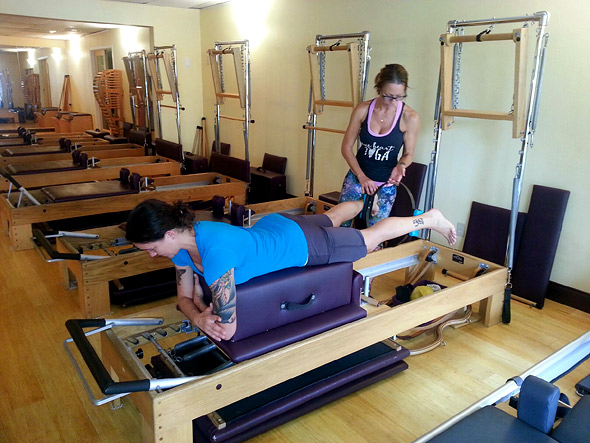 Pilates Center of Austin clients on reformer